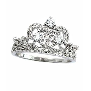 Silver  aesthetic group of crown ring